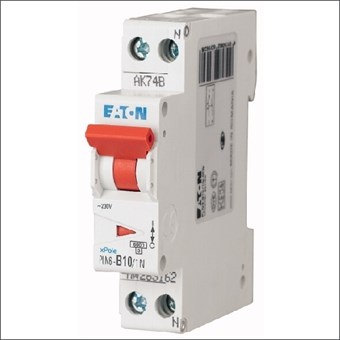 PLN6-C10/1N-MW EATON AUTOMAAT C10A 6KA 1P+N 18MM