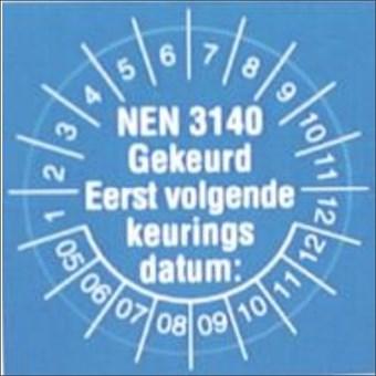 NEN 3140 STICKERS NIEAF-SMIT STICKERS NEN 3140 1=10VEL