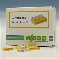 2273-205 WAGO LASKLEM 5V 0.5-2.5 GEEL